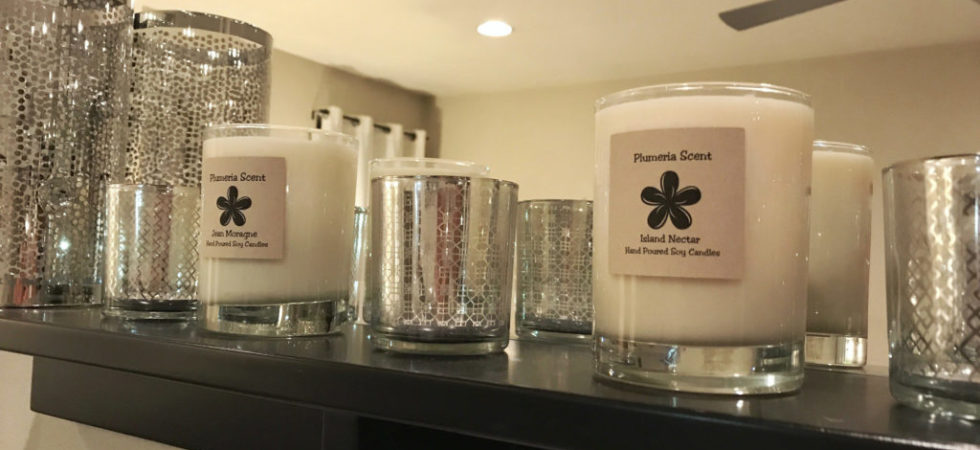 Plumeria Scents - Hand Poured Soy Candles - Plumeria Collection